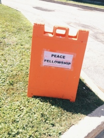 Because the people that go to Peace Camp need signs directing us everywhere. Really. We do.