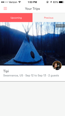 ...and TA DA! Don't tell the boyfriend, but THIS is where we are staying this weekend. I know, right? Who am I? Staying in a TIPI! What the hell? I'm putting this picture in to show you what happens when you actually book a place to stay.